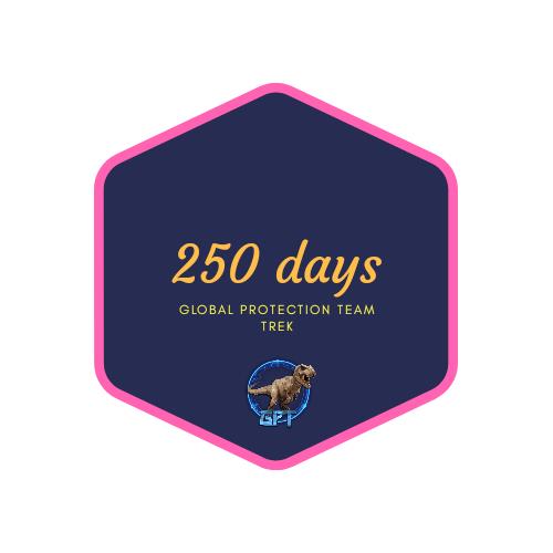 badge 250 days