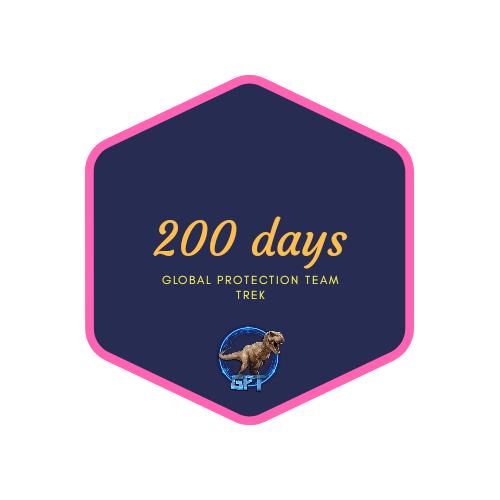 badge 200 days
